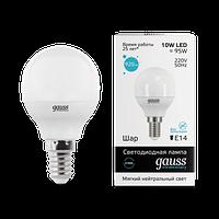 Лампа GAUSS LED ELEMENTARY GLOBE 10W E14 4100K
