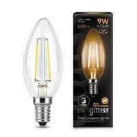 Лампа GAUSS LED FILAMENT CANDLE E14 9W 2700К
