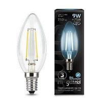 Лампа GAUSS LED FILAMENT CANDLE E14 9W 4100К