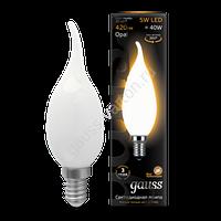 Лампа GAUSS LED FILAMENT CANDLE TAILED OPAL E14  2700К