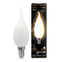 Лампа GAUSS LED FILAMENT CANDLE TAILED OPAL E14  4100К