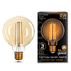 Лампа  GAUSS LED FILAMENT G95 GOLDEN 2400К