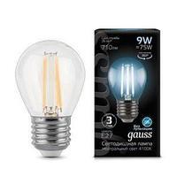 Лампа  GAUSS LED FILAMENT GLOBE E27  4100K