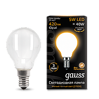 Лампа GAUSS LED FILAMENT GLOBE  E27 OPAL 2700K