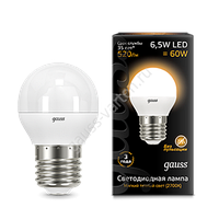 Светодиодная лампа GAUSS шар матовый Е27   2700K