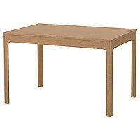 Стол раздвижной ЭКЕДАЛЕН дуб 120/180x80 см ИКЕА IKEA, фото 1