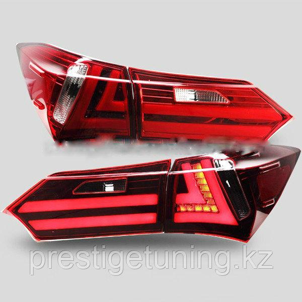 Задние фонари на Corolla 2013-18 Lexus style Red Color