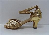 Туфли для бальных танцев, каблук 5 см (золото)