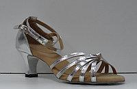 Туфли для бальных танцев, каблук 5 см (серебро)