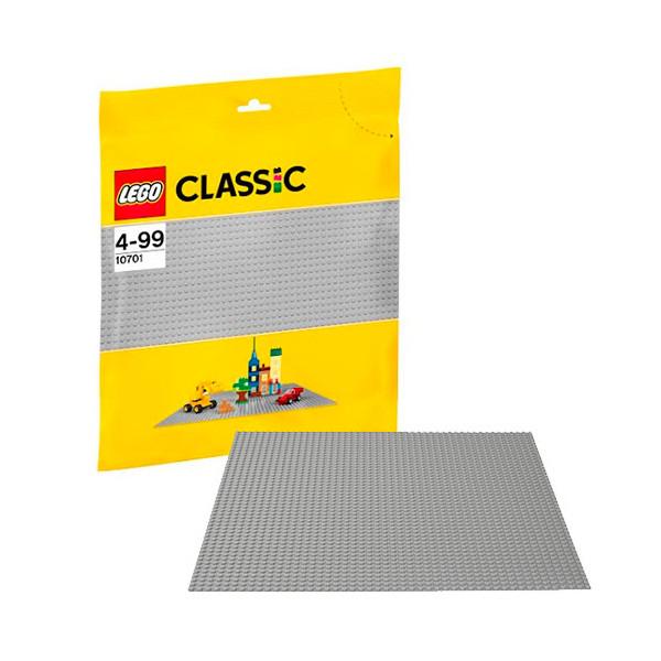 Игрушка Лего Классика (Lego Classic) Строительная пластина серого цвета