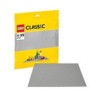 Игрушка Лего Классика (Lego Classic) Строительная пластина серого цвета, фото 1