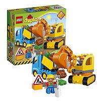 Игрушка Лего Дупло (Lego Duplo) Грузовик и гусеничный экскаватор