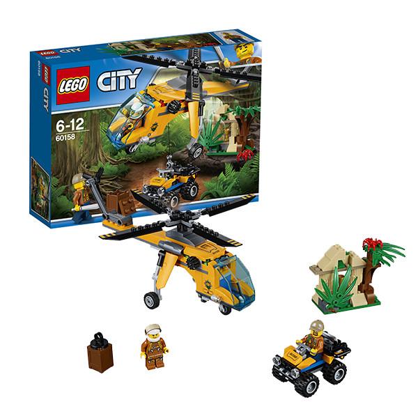 Игрушка Лего Город (Lego City) Грузовой вертолёт исследователей джунглей