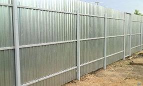 Забор из профлиста оцинкованного (вид со двора).