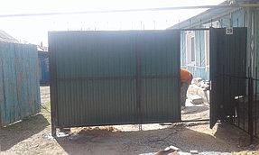 Забор из профлиста цветного (вид с улицы).