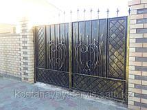 Художественное оформление кованых ворот (патина, под старину, ржавчина...