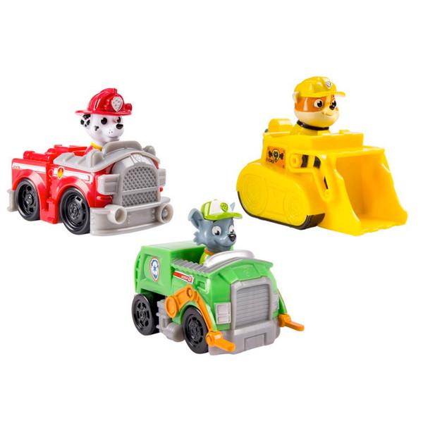 Игрушка Щенячий Патруль (Paw Patrol) Набор из 3 маленьких машинок