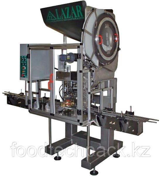 Автоматическое укупорочное  оборудование для закручивания крышек большого диаметра LAZAR LCC-70