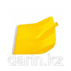 Лопата для уборки снега пластиковая, желтая, 420 х 425 мм, без черенка, Россия, Сибртех