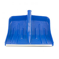 Лопата для уборки снега пластиковая, синяя, 420 х 425 мм, без черенка, Россия, Сибртех, фото 1