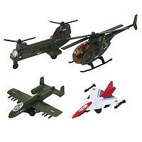 Игрушка ТМ Wincars (Винкарс)  набор военных  летательных средств 4 штуки