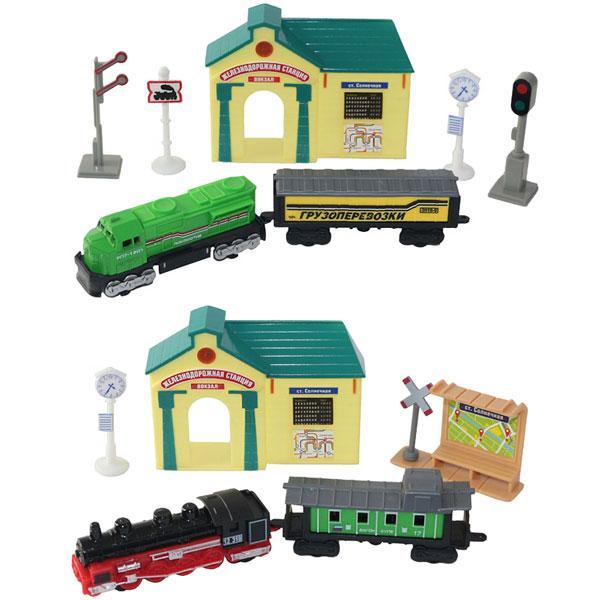 Игрушка ТМ Wincars (Винкарс) набор железнодорожная станция поезда и аксессуары