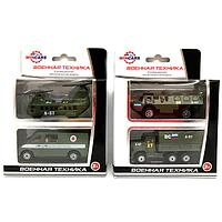Игрушка ТМ Wincars (Винкарс)  набор  металлических машин военная техника 2 штуки в ассортминте
