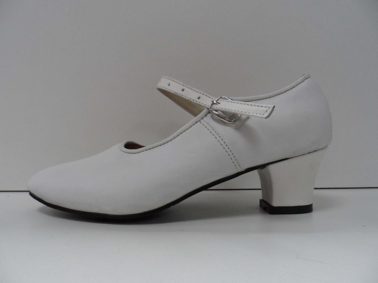 Туфли для народных танцев - Фламенко (белый) - фото 2