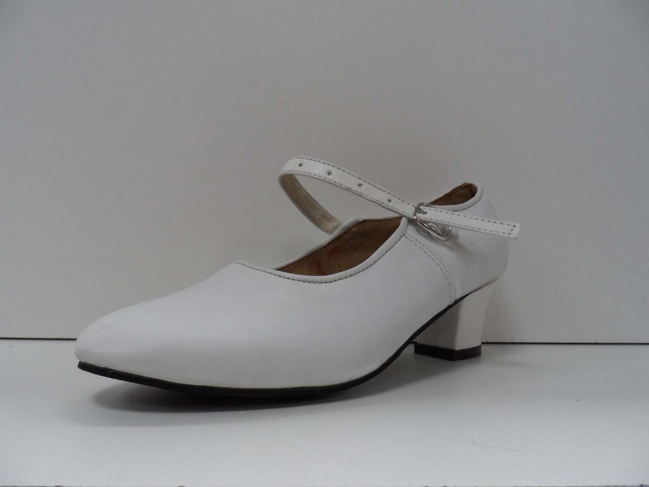 Туфли для народных танцев - Фламенко (белый) - фото 1