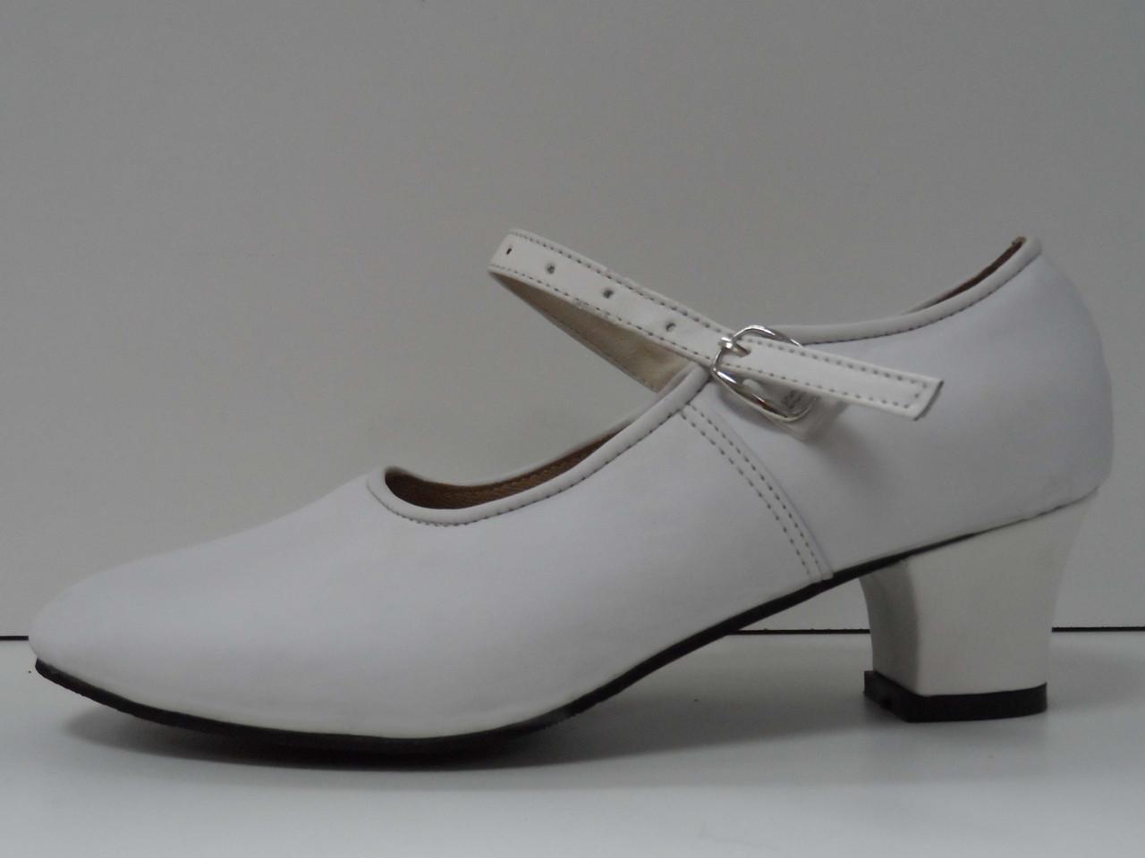 Туфли для народных танцев - Фламенко (белый) - фото 3
