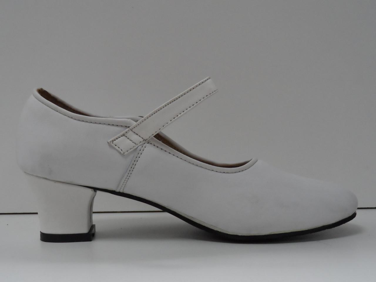 Туфли для народных танцев - Фламенко (белый) - фото 4