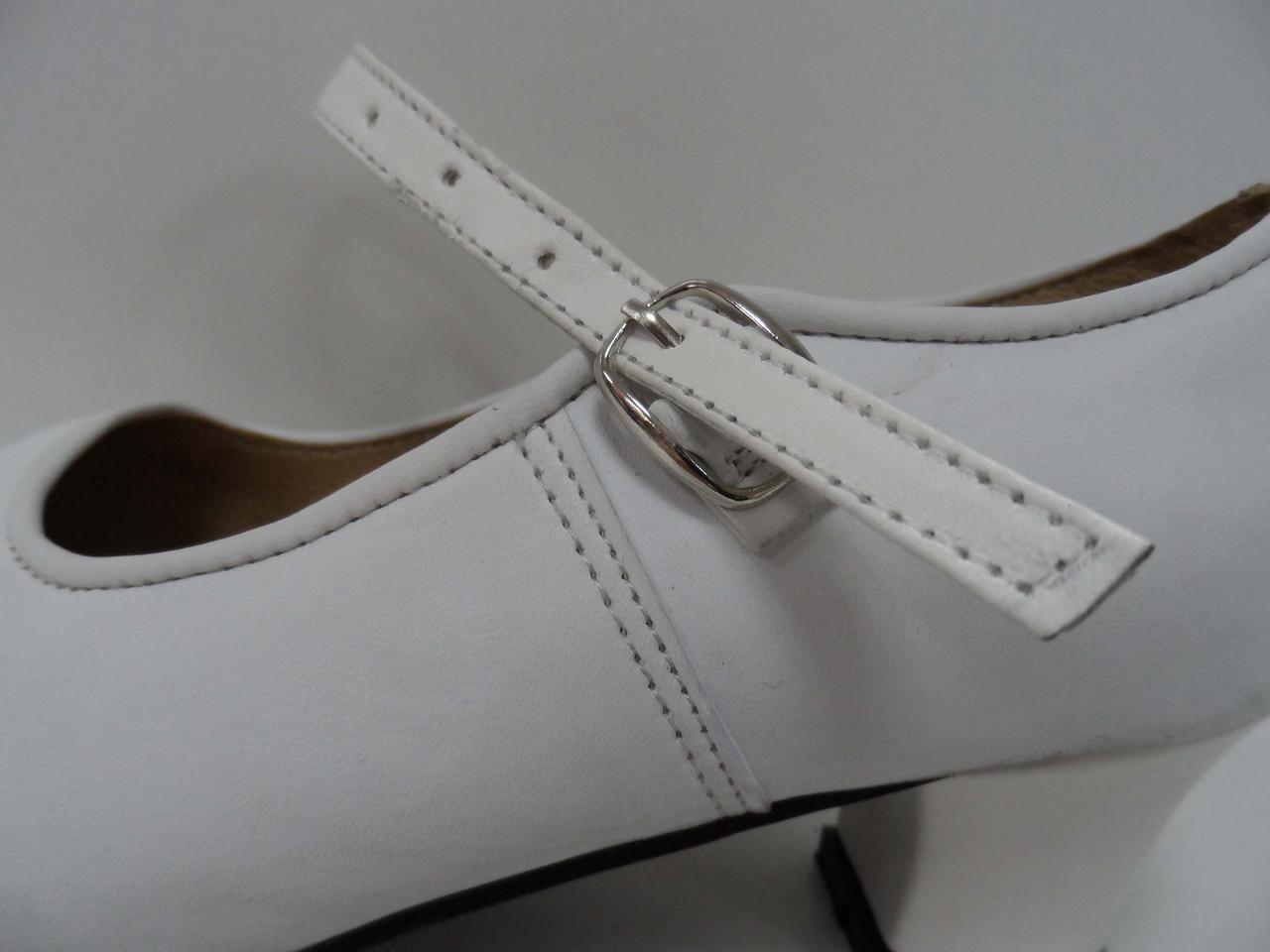 Туфли для народных танцев - Фламенко (белый) - фото 5