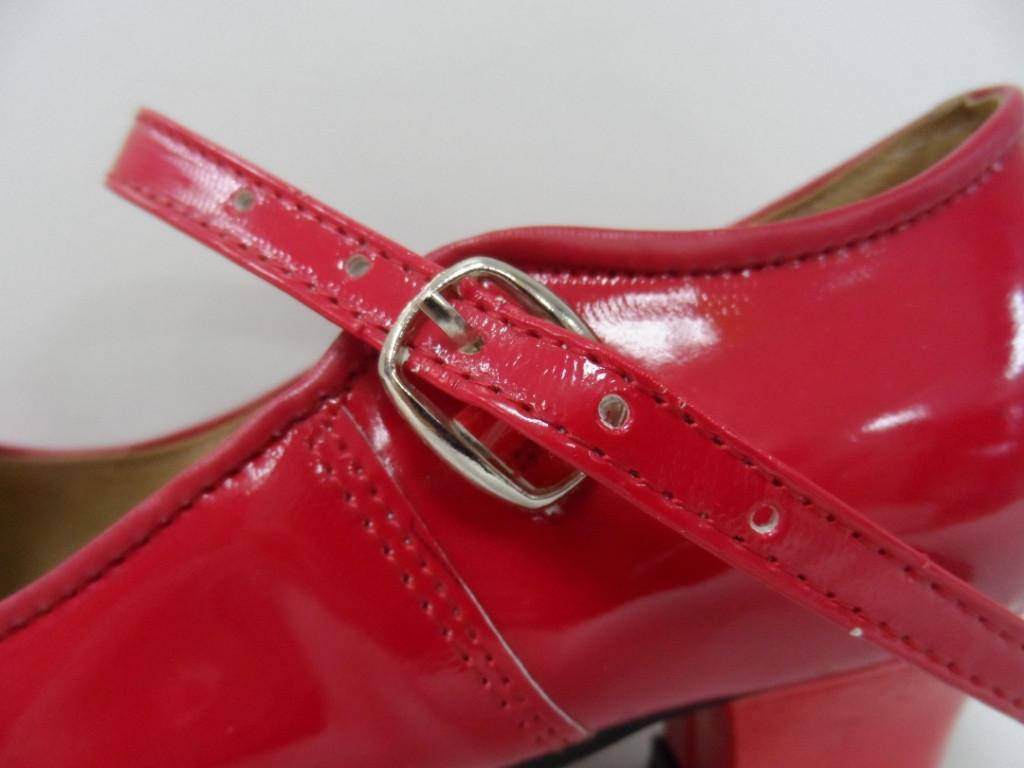 Туфли для народных танцев - Фламенко (красный) - фото 5
