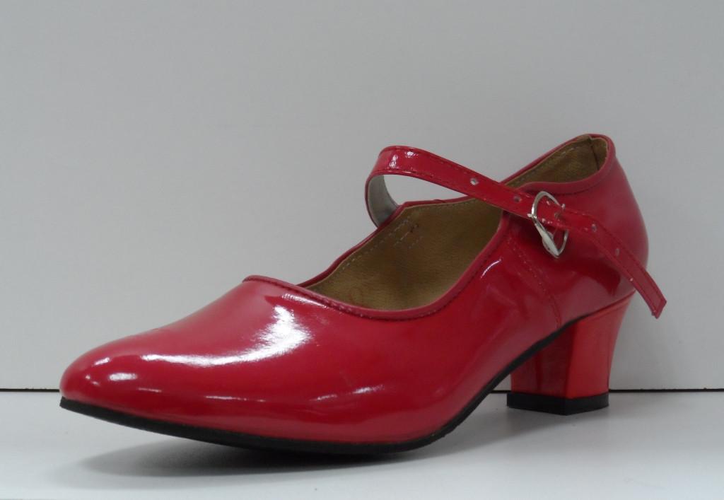 Туфли для народных танцев - Фламенко (красный) - фото 1