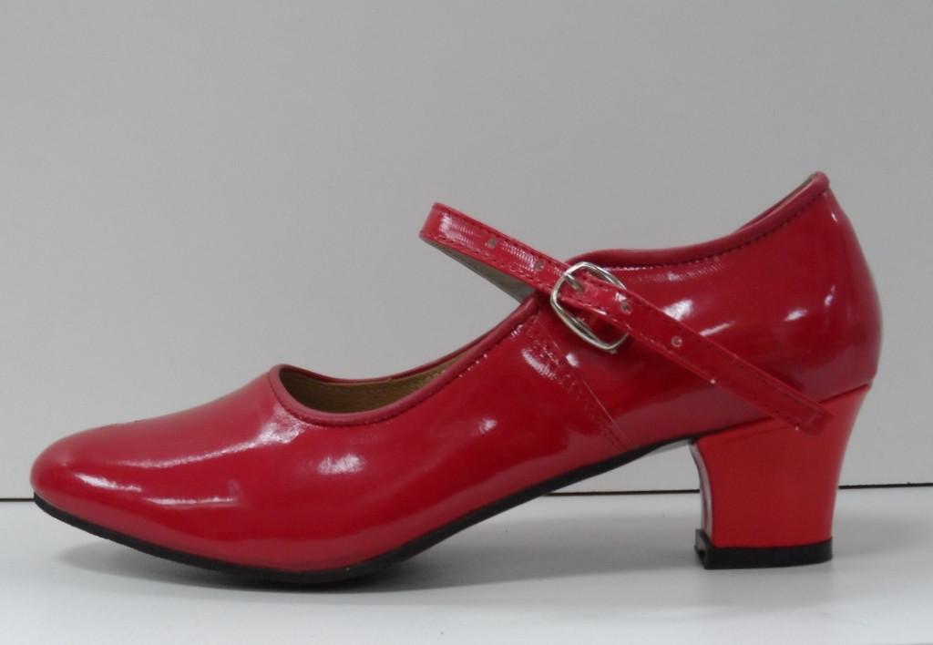 Туфли для народных танцев - Фламенко (красный) - фото 3