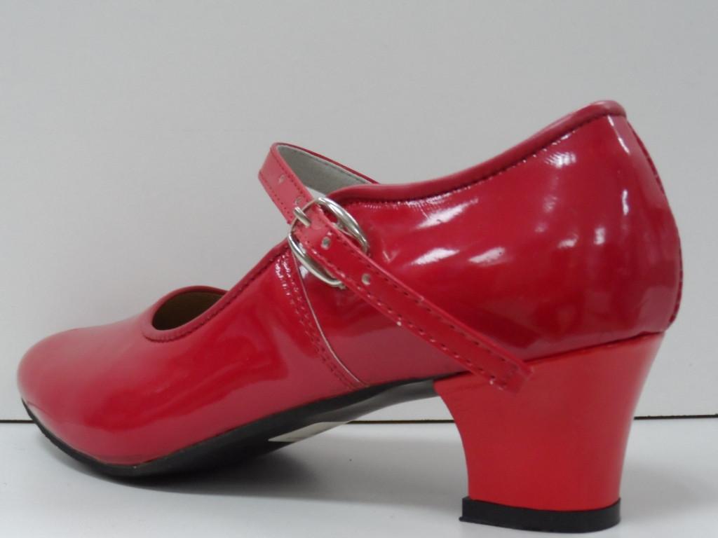 Туфли для народных танцев - Фламенко (красный) - фото 4