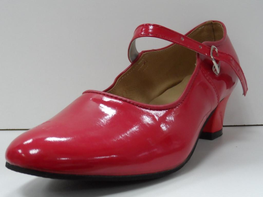Туфли для народных танцев - Фламенко (красный) - фото 2