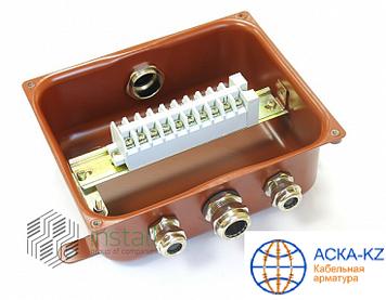 Коробка клеммная У-614 АУ2 IP65 с латунным сальником