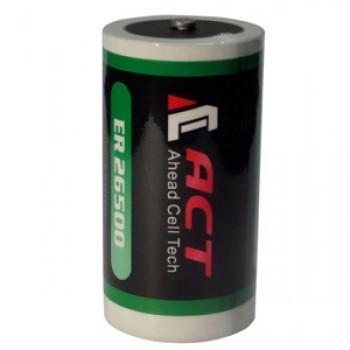 Литиевая батарея ACT ER26500, C Size 3,6В; 9000 мАч, Li-SOCl2