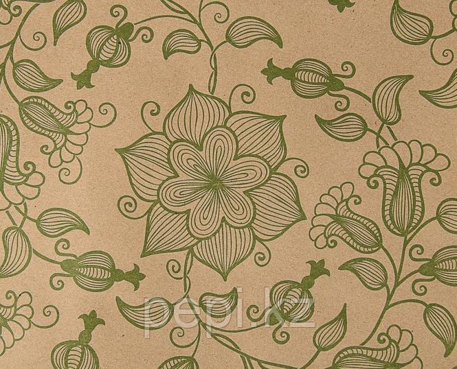"""Бумага крафт """"Вьюнок полевой зелёный"""", 0,72 х 10 м, 70 г"""