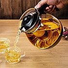 Заварочный стекляный чайник Lilac (900 мл), фото 3