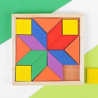 Деревянная головоломка квадратная, 16 деталей