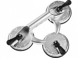 Стеклодомкрат алюминиевый тройной, Зубр Профессионал 33723-3 ✔ 100 кг