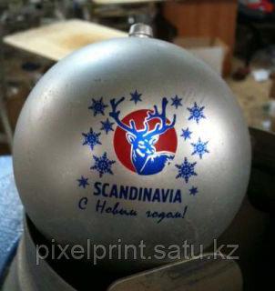 Ёлочные шары с полноцветным логотипом