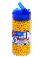 Пульки 6 мм для игрушечного оружия YIKA пластик. бутылка 2000 шт., желтые, фото 1