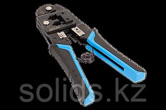 Инструмент обжимной профессиональный, коннекторы: 8P8C, 6P6C, 6P4C
