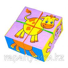 Кубики детские домашние животные