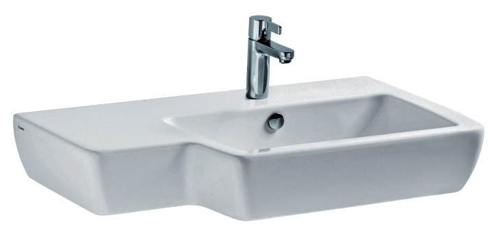 Раковина Cersanit MALMO 80 80.5x19x50 левая (O-UM-MAL80/1-L)
