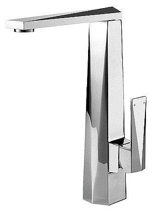 Смеситель Bravat Iceberg F776110C-2 для кухни с высоким поворотным изливом