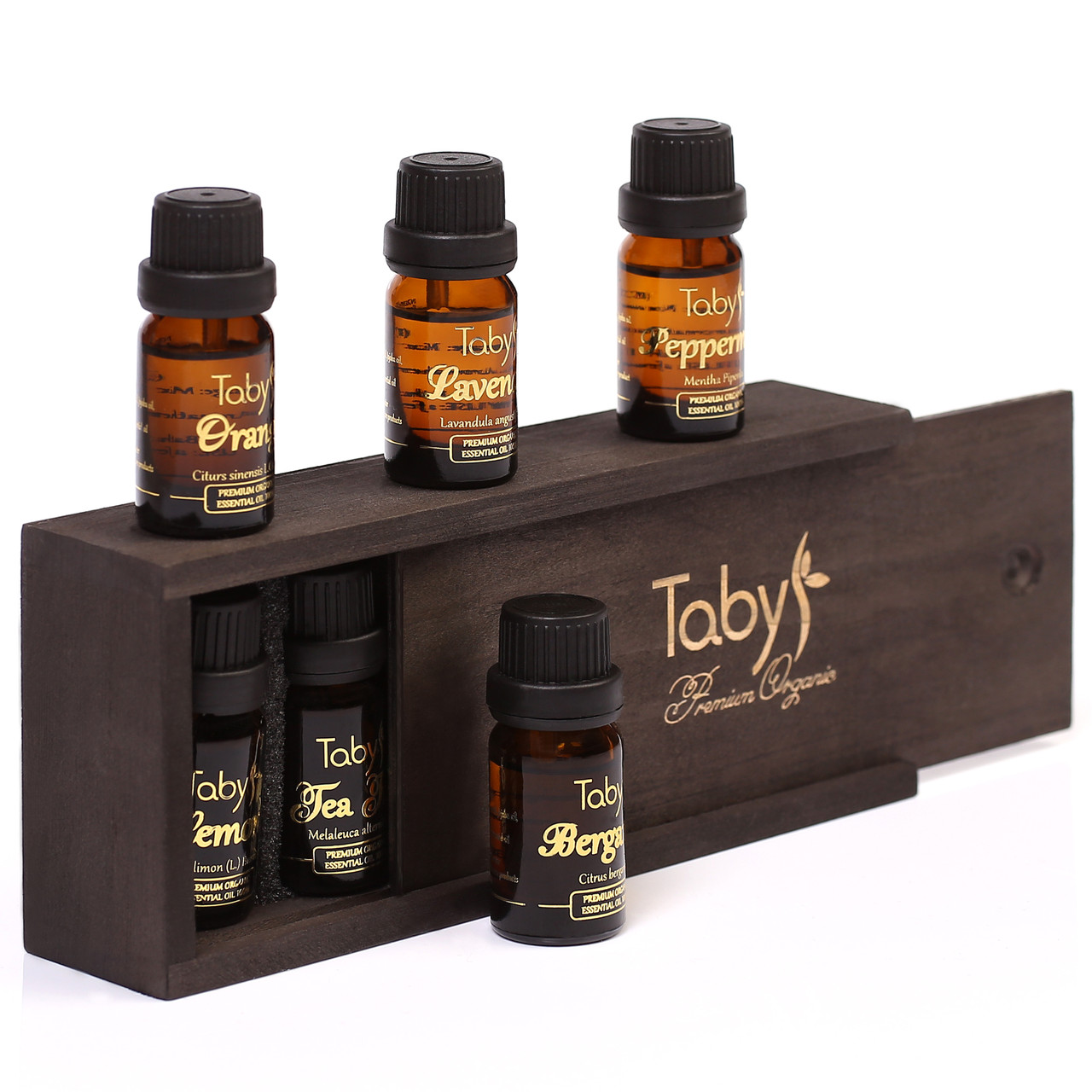 Эфирные масла натуральные набор 6 шт: бергамот, лаванда, чайное дерево, мята перечная, лимон, апельсин